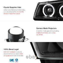 03-06 Chevy Silverado 1500 2500 3500 Black Housing Halo LED Projector Headlight