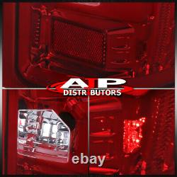 07-13 Silverado 1500 Direct Replacement LED Brake Tail Lights Lamps Pair Red Len