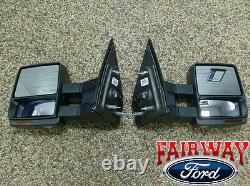 07 thru 14 F-150 OEM Ford Power Heat Telescopic Trailer Tow Mirrors PAIR