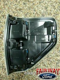 09 thru 14 F-150 OEM Genuine Ford SVT Raptor Black Tail Lights Lamps (Pair of 2)