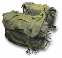 1 Pair New Military Green Motorcycle Panniers Heavy Canvas 54013
