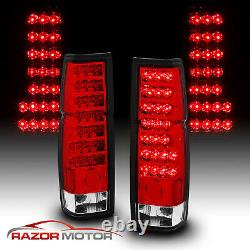 1986-97 Red Clear LED Back Tail Lights Pair For Nissan D21 Hardbody Pickup
