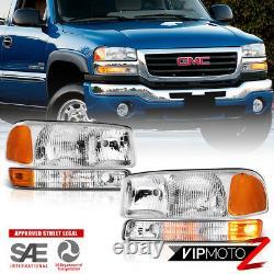1999-2006 GMC Sierra FACTORY STYLE 4PC Bumper Headlights Assembly 00-06 Yukon