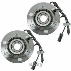 2 Front Wheel Bearing Hub Assembly 4x4 Chevy Silverado Tahoe GMC Sierra Yukon