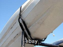2 Pairs Universal Roof J Rack Kayak Boat Canoe Car SUV VAN Top Mount Carrier