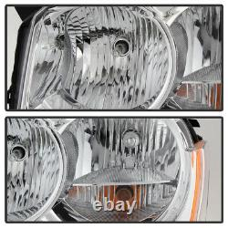 2005-2007 Jeep Grand Cherokee Headlights Headlamps Pair Replacement Left+Right