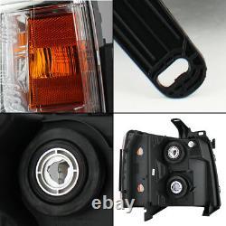 2007-2013 Chevy Silverado 1500 2500 3500 Replacement Headlights Headlamps Pair