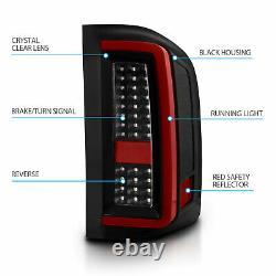 2007-2014 For Chevy Silverado 1500 2500 3500 Black LED Tail Lights Pair