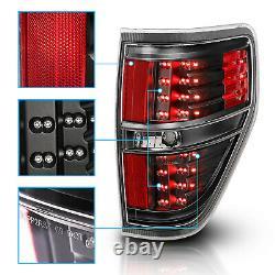 2009 2010 2011 2012 2013 2014 For Ford F-150 Black LED Brake Tail Lights Pair
