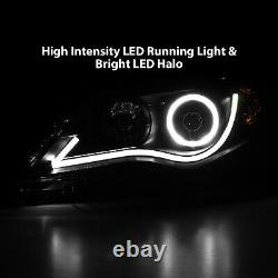 2012 2013 2014 Euro R8 LED Bar Halo Projector Headlights Pair For Toyota Camry