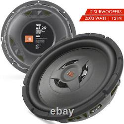 2x New JBL CLUB WS1200 2000 Watts 12 2 or 4 ohm Shallow Mount Subwoofer -1 Pair