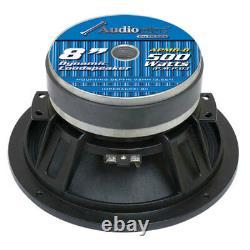 Audiopipe APMB8 8 2000W LowithMid Bass Frequency Car Audio Loudspeakers, 2 Pair