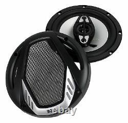 BOSS Audio NX654 Onyx 6.5 800W 4-Way Car Audio Coaxial Stereo Speakers, 2 Pair