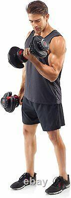 BOWFLEX SelectTech 552 Two Adjustable Dumbbells PAIR NEW SEALED FAST SHIPPING