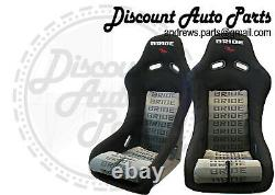 BRIDE VIOS 3 III Black Gradation Seats Low Max JDM BUCKET Racing STANCE PAIR