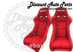 BRIDE ZETA 2 TWO Red Seats Low Max JDM BUCKET Racing Seats JDM PAIR VIOS ZIEG