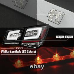 Black 2012-2016 Chevy Cruze Lumileds LED Tail Lights Brake Lamps Pair Left+Right