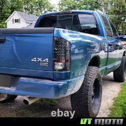 Blk 2002-2006 Dodge Ram 1500 2500 3500 LED Tail Lights Rear Brake Lamps Pair Set