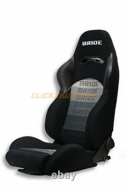 Bride Digo Racing Seat Pair Black Gradation Jdm Vios Gias Zeta Zieg Cuga