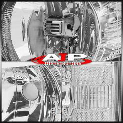 Chrome Clear Replacement Headlights Lamps For 07-13 Chevy Silverado 1500 2500HD