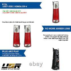 DEPO JDM LOOK Red/Clear Rear Tail Lights Pair For 97 98 99 00 01 HONDA CRV CR-V