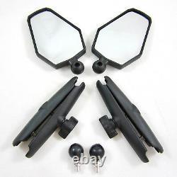 DoubleTake Mirror Two Adventure 6 RAM Arm 10mm x 1.25 Ball Mount Pair Set NEW