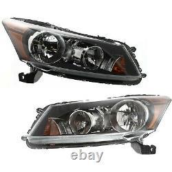 Factory Style Headlamps For 2008-2012 Honda Accord Sedan Headlights Left+Right
