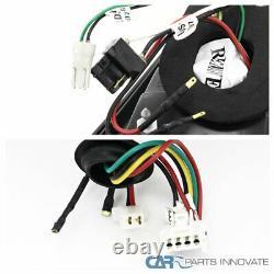 Fit Mitsubishi 08-17 Lancer 08-15 EVO X Black LED Tail Lights Brake Lamps Pair