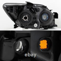 Fits 2005-2007 Scion tC ANT10 Black Smoked Headlights HeadLamps Replacement Pair