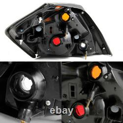 Fits 2007-2012 Altima Sedan Black Tail Lights Replacement Pair Left+Right 07-12