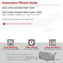 For 02-05 Dodge Ram 1500/ 03-05 Ram 2500 3500 Black Halo LED Projector Headlight