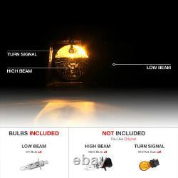 For 05-10 Chrysler 300C SRT STYLE Black Projector Headlight Assembly L+R Side
