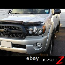 For 05-11 Toyota Tacoma TRD STYLE Black Front Headlights Head Lamp Pre Runner