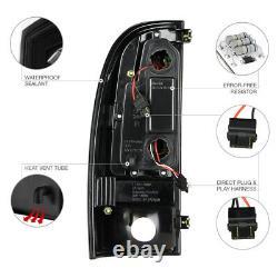 For 05-15 Toyota Tacoma Prerunner Xrunner TRD Black LED Neon Tube Tail Light SET