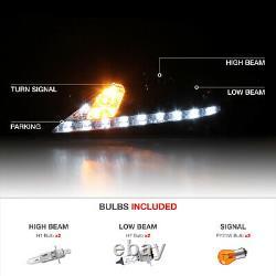 For 06-13 Lexus IS 250 350 SINISTER BLACK Smoked LED Headlight LEFT RIGHT Lamp