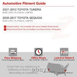 For 07-13 Toyota Tundra Cyclop Optic Neon Tube Black Projector Headlight Lamp