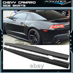 For 10-15 Chevy Camaro Ikon Style Side Skirts PP Pair Left Right