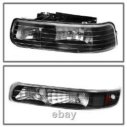 For 1999-2002 Chevy Silverado Headlights Bumper Lamp + Rear Tail Lights Pair Set