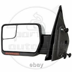 For 2004-14 Ford F-150 Power Heated Puddle Signal Chrome Side View Mirrors Pair