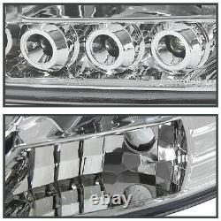 For 2006-2008 Dodge Ram 1500 2500 3500 LED Strip Halo Projector Headlights Pair