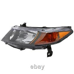 For 2006-2011 For Honda Civic Coupe 2Dr Headlights Lamps Black Left+Right Pair