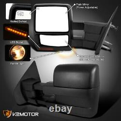 For 2007-2014 Ford F150 Power Heated Telescoping Tow Mirrors Pair+Signal+Puddle