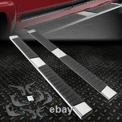 For 2007-2019 Silverado/sierra Crew Cab Pair 6 Chrome Running Board Step Bar