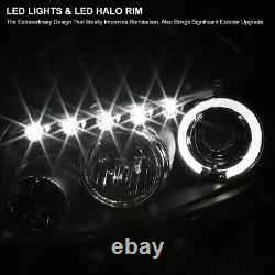 For 2008-2010 Scion xB Black LED Halo Projector Headlights Lamps L+R Pair 08-10