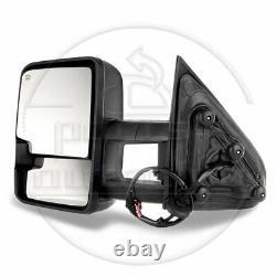 For 2014-18 Silverado 1500 Sierra Power Heated Smoke Signal Towing Mirrors Pair
