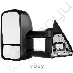 For 88-98 Chevy C/K C10 1500 3500 POWER Towing Camper Side Towing Mirrors PAIR