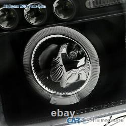 For Dodge 94-01 Ram 1500 2500 3500 LED Halo Projector Headlights Lamp Black Pair