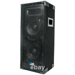 Grindhouse Pair of Dual 8 inch 2 Way Passive PA/DJ Loud Speakers 1800 Watts