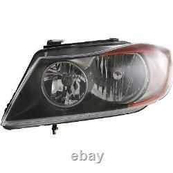 Halogen Headlight Left and Right For BMW 2006 325i 325xi 07-08 328i Sedan Wagon