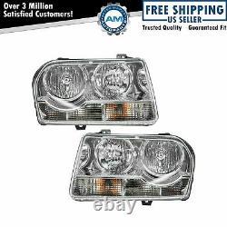 Headlights Headlamps Left & Right Pair Set NEW for 05-10 Chrysler 300